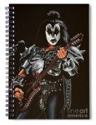 Gene Simmons Of Kiss Spiral Notebook