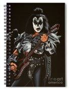 Gene Simmons Of Kiss Spiral Notebook
