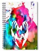 Gene Simmons Paint Splatter Spiral Notebook