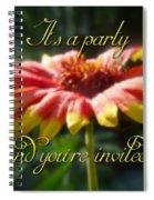 General Party Invitation - Blanket Flower Wildflower Spiral Notebook