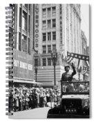 General Patton Ticker Tape Parade Spiral Notebook