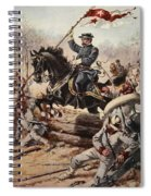 General Sheridan At The Battle Of Five Spiral Notebook