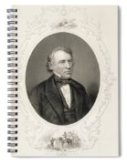 General Zachary Taylor, From The History Of The United States, Vol. II, By Charles Mackay, Engraved Spiral Notebook