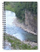 Genesee River In Grand Canyon Of East Spiral Notebook