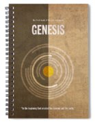 Genesis Books Of The Bible Series Old Testament Minimal Poster Art Number 1 Spiral Notebook