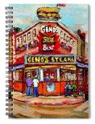 Geno's Steaks Philadelphia Cheesesteak Restaurant South Philly Italian Market Scenes Carole Spandau Spiral Notebook