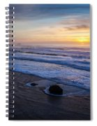 Gentle Evening Waves Spiral Notebook