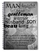 Gentleman 4 Spiral Notebook