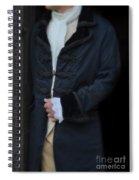 Gentleman In 18th Century Clothing Spiral Notebook