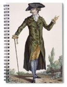 Gentleman In Green Coat, Plate Spiral Notebook