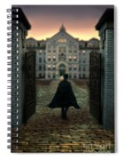Gentleman In Top Hat And Cape Walking Through Gates Spiral Notebook