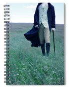 Gentleman Walking In The Country Spiral Notebook