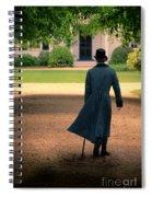 Gentleman Walking Towards A House Spiral Notebook