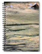 Gently Gliding Water Abstract Spiral Notebook