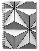 Geodesic Pyramids Spiral Notebook
