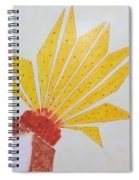 Geometric Blooming Lotus Spiral Notebook