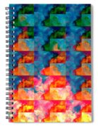 Geometric Cloud Cover Spiral Notebook