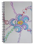 Geometric Greeting Spiral Notebook