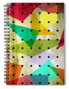 Geometric In Colors  Spiral Notebook
