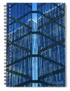 Geometric Reflection Spiral Notebook