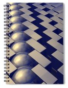 Geometric Shapes Of Gold Spiral Notebook