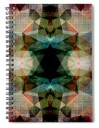 Geometric Textured Abstract  Spiral Notebook
