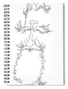 George Bernard Shaw Caricature Spiral Notebook
