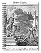 George IIi Statue, 1776 Spiral Notebook