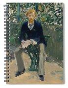 George Moore In The Artist's Garden Spiral Notebook
