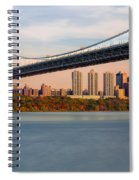 George Washington Bridge In Autumn Spiral Notebook