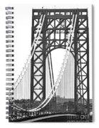 George Washington Bridge Nj Tower Spiral Notebook