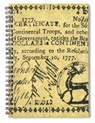 Georgia Banknote, 1777 Spiral Notebook