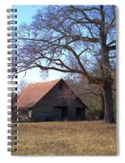 Georgia Barn In Winter Spiral Notebook