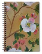 Georgia Flowers - Apple Blossoms- Stretched Spiral Notebook