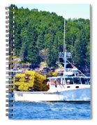 Georgia Madison Lobster Boat Spiral Notebook