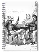 Georgia: Poker Game, 1840s Spiral Notebook