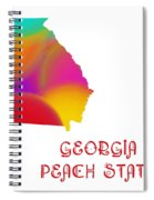 Georgia State Map Collection 2 Spiral Notebook