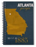 Georgia Tech University Yellow Jackets Atlanta College Town State Map Poster Series No 043 Spiral Notebook