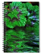Geranium Leaves - Reflections On Pond Spiral Notebook