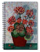 Geraniums In A Copper Pot Spiral Notebook