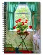 Geraniums In The Bedroom Spiral Notebook