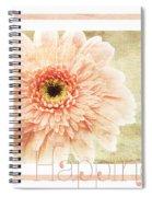 Gerber Daisy Happiness 1 Spiral Notebook