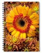 Gerbera Daisy With Mums Spiral Notebook