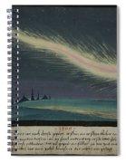 German Comet Illustration Spiral Notebook