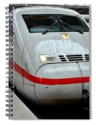 German Ice Intercity Bullet Train Munich Germany Spiral Notebook