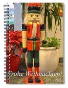German Nutcracker - Frohe Weihnachten Spiral Notebook