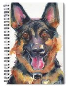 German Shepherd Watercolor Spiral Notebook