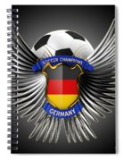 German Soccer Champions Spiral Notebook