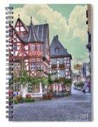 German Village Along Rhine River Spiral Notebook