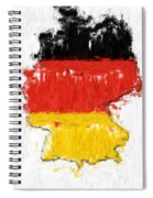 Germany Painted Flag Map Spiral Notebook